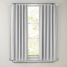 Polka Dot Blackout Curtains (Grey)