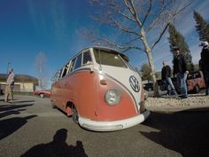 slow and low... red vw bus ☮ re-pinned by http://www.wfpblogs.com/author/southfloridah2o/