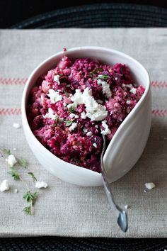 2 of our favorites in one salad: quinoa & roasted beet salad