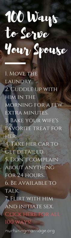 100 ways to serve your spouse