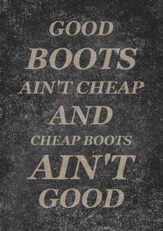 Ain't that the truth!! I dream about a pair of boots for months before I'm ever able to buy them