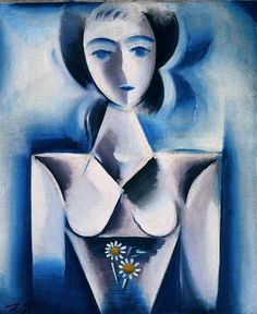 Josef Čapek Děvče s kopretinami, 1914 A Girl with Marguerites Radios, Prague, Cubism Art, Georges Braque, Writers And Poets, Constructivism, Woman Painting, Painting Art, Beautiful Paintings