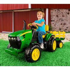 Peg Perego John Deere Ground Force 12-volt Tractor Ride-On - Walmart.com