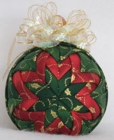 Quilted Christmas Ornament by Codysquilts on Etsy, $15.00