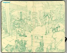 Another find from my good friend Wong today… the unbelievably gifted Korean artist Kim Jung Gi. The video below shows him drawing at an comics expo a couple of years ago, and to see the almos… Junggi Kim, Kim Jung, Korean Artist, Comic Book Artists, Life Drawing, Drawing Tips, Moleskine, Line Art, Cool Art