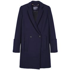 PROENZA SCHOULER DB Wool Coat Navy