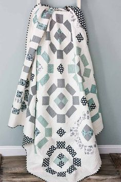 Puddle Jumping Quilt Full Size Quilt 81 x by CottonBerryQuilts
