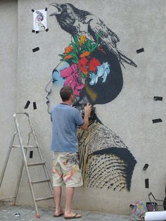 Amazing street art by Irish artist Fin Dac