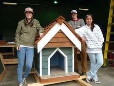 """Dog Day in the Park...local Vast students create and donate a """"Doghouse"""" for SPCA raffle!"""