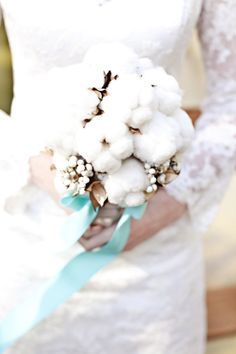 #wedding bouquet #cotton flowers
