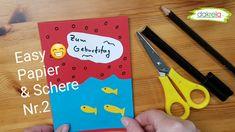Basteln einfach mit Papier und Schere - Kartenbasteln - Glückwunschkarten zum Geburtstag (Karte 2) Neue Serie für Bastler mit wenig Bastelmaterial. Papier, Schere, Stift und Kleber haben die meisten zu Hause - also fang an! Bastel mit und mache anderen eine Freude. Personal Care, Paper, Simple, Scissors, Joy