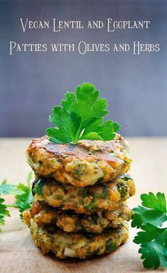 #MeatlessMonday with #Vegan Lentil and Eggplant Patties with Olives and Herbs http://www.miratelinc.com/blog/meatless-monday-with-vegan-lentil-and-eggplant-patties-with-olives-and-herbs/