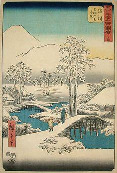hiroshige woodblock prints   Utagawa Hiroshige , 1797-1858