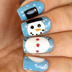 Snow Friend for Holiday Nail Art picture 3