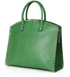 Tote 'Rockstud' Grün von Valentino