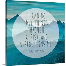 Philippians 4:13 - I can do all things through Him who strengthens me. Jesus Quotes, Jesus Sayings, New American Standard Bible, Philippians 4 13, I Can Do Anything, Brown Canvas, Typography Art, New Testament