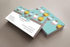 szablon wizytówki Na słodko Business Cards, Visit Cards, Carte De Visite
