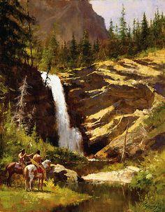 Running Eagle Falls by Howard Terpning