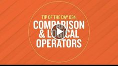 Tip 034 - Comparison & Logical Operators in After Effects  http://videotutorials411.com/tip-034-comparison-logical-operators-in-after-effects/  #Photoshop #adobe #lightroom #graphicdesign #photography