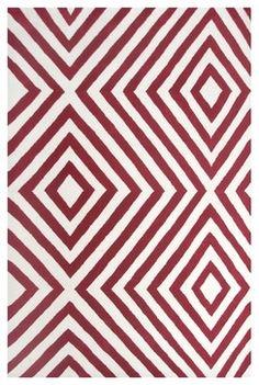 Ecconox Zuel Red Rug contemporary rugs