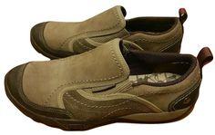 Merrell Mimosa Moc Boulder Brown Slip On Loafer Leather Hiking Walking Shoe Sz 6 #Merrell #LoafersMoccasins #WalkingHiking