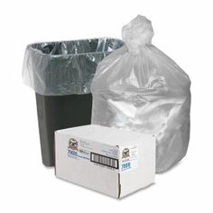 Genuine Joe 70010 Economy 10 Gallon Can Liners, Clear, 1,000 Liners (GJO70010)