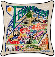 Tennessee Pillow - Handmade Tennessee State Throw Pillow