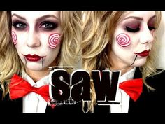 ▶ JIGSAW MAKEUP TUTORIAL!! - YouTube