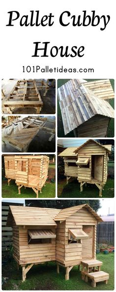 Pallet Cubby House | 101 Pallet Ideas