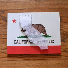 California Flag String Art