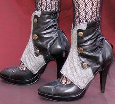 Women's Steampunk Spats -Danae. $92.00, via Etsy.