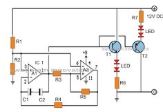 Alternating ON/OFF LED Fader Circuit - Slow Rise, Slow Fall LED Effect