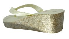 f285bb836 Ivory with Gold Glitter Wedding Wedges -customizable color options