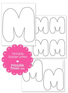 Printable Bubble Letter M Template from PrintableTreats.com