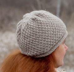 Drobiazgi Maknety: Łatwa czapka wzorem perłowym / Simple pearl hat