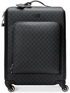 Shop the GG Supreme suitcase by Gucci. A medium-sized four wheel suitcase made in GG Supreme canvas. Luggage Sets Designer, Designer Suitcases, Designer Travel Bags, Designer Bags, Best Carry On Luggage, Mens Luggage, Luggage Bags, Gucci Handbags, Hobo Handbags