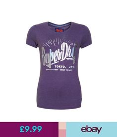 8504d4272ce7 Tops   Shirts Womens Superdry Factory Second Built To Last T-Shirt Lex  Purple Marl