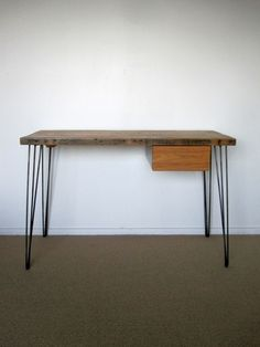Plan for my new desk with Hair Pin Legs