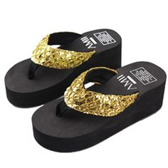 YINHAN® Women's Summer Sandal Slippers Beach Wedge Flip-flop *** Click on the image for additional details.