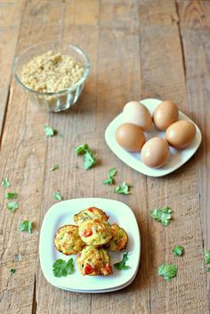 Sneaky Veggie Breakfast Scramble Bites are protein- and vegetable-packed little portable nibbles that toddlers and kids will love and parents will enjoy too!