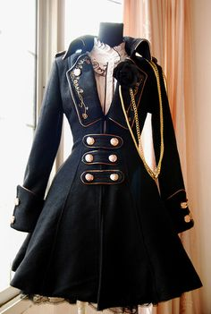 Military-inspired and steampunk-y...I love this, but I could Never pull this off.