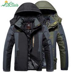 9fe510e7a25 LoClimb Plus Size L-9XL Winter Camping Hiking Jacket Men Waterproof Outdoor  Sports Coat Trekking