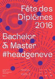 Affiche Fete des diplomes HEAD