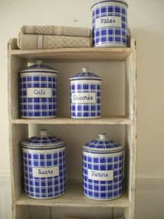 FRENCH ENAMELWARE GRANITEWARE  kitchen by vintagefrenchstyle, $185.00
