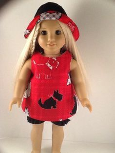 "GORGEOUS HANDMADE DOLL CLOTHES ~ SHORT SET ~ FITS 18"" AMERICAN GIRL DOLL SS229"