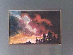 ''Storm''-watercolor 27/32sm;paspartu,frame 623$