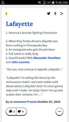 A round of applause to ze awesome Prussia,whomever that may be...... When a Hetalia reference appears in a Hamilton one