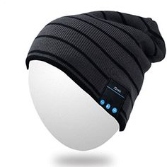 Qshell Winter Comfy Bluetooth Beanie Washable Hat w/Basic Knit Music Cap with Speakers & Mic Hands Free Wireless Bluetooth Headphones Headsets for Running Skiing Skating Hiking,Christmas Gifts