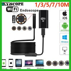 Antscope Wifi Endoscope Camera Android 720P Iphone Borescope Waterproof Camera Endoscopic Semi Rigid Hard Tube iOS Endoscope