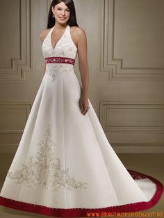 2012 verziertes schönes Brautkleid mit Stickerei Bodenlang V-Ausschnitt